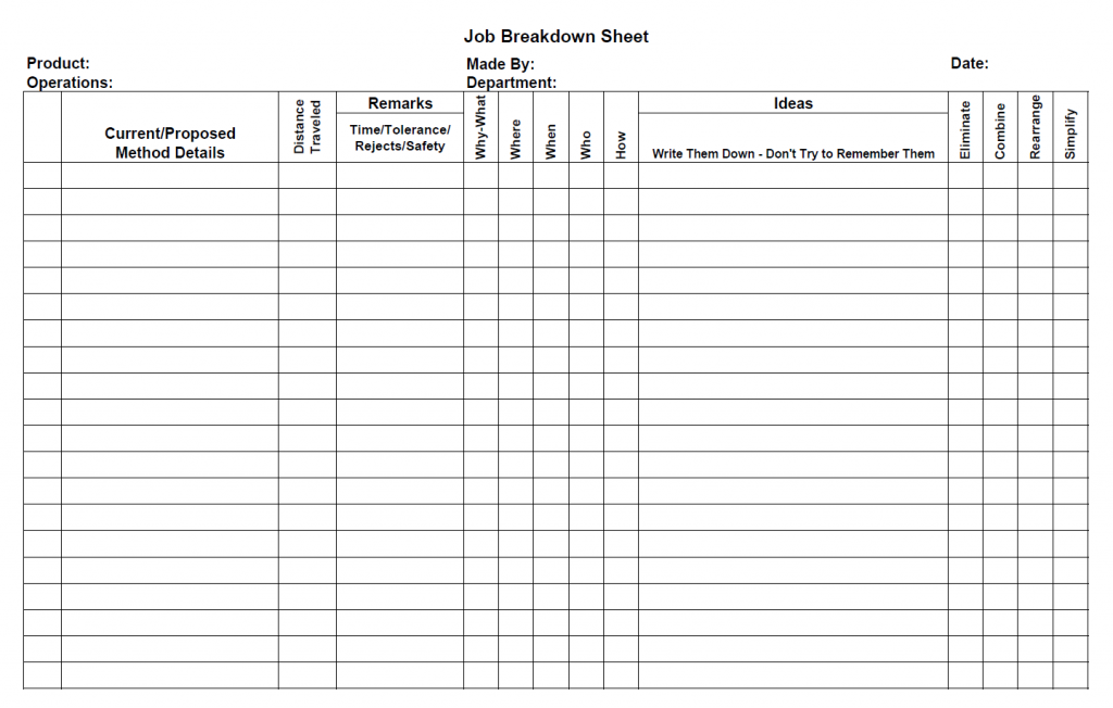 Downloads – Blank Workout Sheet
